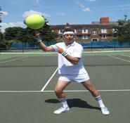 Sports themed walk about act and entertainer for hire in London and the UK