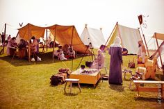 Manitoba Icelandic Festival 2014, Vikings Vinland re-enactors. Sons of Lugh camp and kitchen tent. Photo by Leif Norman