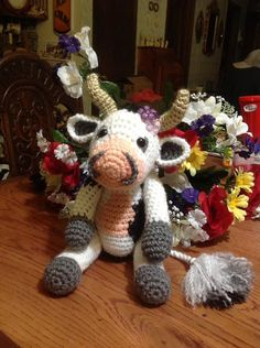 Ferdinand the Bull hand crocheted baby bull Spanish Bull