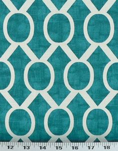 White and Teal Upholstery Fabric | 98 per yard 0 reviews write review quantity full increments sample ...