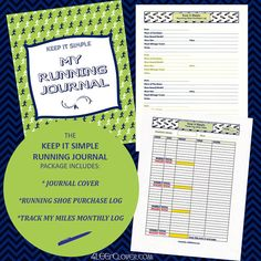 Printable Running Log  Running Journal  Printable by 4LEEfClover