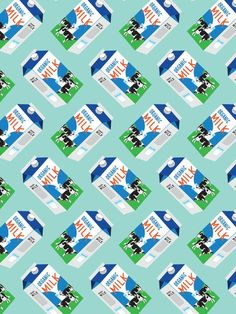 Milk Carton Pattern – The Supermarket Series card by Pattern Paper Co. Textile Pattern Design, Textile Patterns, Abstract Pattern, Pattern Art, Pattern Paper, Motif Design, Pattern Lockscreen, Pattern Wallpaper, Food Wallpaper