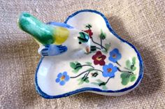 Adorable Ring Dish Vintage Italian Pottery 1950s  by angelinabella