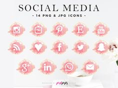 Pink social media icons, Pink aesthetics, Pink phone app icons, Blush Pink & Gold Social Media Icons, Blush Gold Social Sharing Icons, Blush Pink Pinterest Icons, Instagram Icons, IGTV Icon, Snapchat Icon Snapchat Icon, Snapchat Logo, Social Icons, Social Media Logos, Free Social Media Icons, Web Banner Design, Pop Design, Graphic Design, Blush And Gold