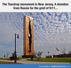 The teardrop monument. I live in NY, how did I not know this existed?