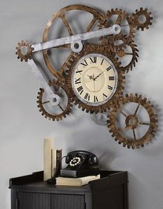 Some designers specialize in desiging steampunk and industrial furniture which is close to the steampunk aesthetic. Rusty metal, salvaged woods and machinery detailing charachterize the steampunk designs that help create that unique look in the interior.