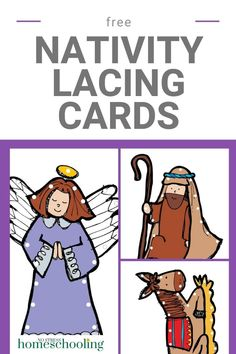 Looking for a fun Christmas fine motor activity? Lacing cards are a great way for preschoolers to practice their fine motor skills. Use these free Christmas Lacing Cards for fine motor skills to help Fun Writing Activities, Fine Motor Activities For Kids, Sensory Activities Toddlers, Infant Activities, Sensory Bins, Christmas Stories For Kids, Christmas Bible, Handwriting Worksheets For Kids, Lacing Cards