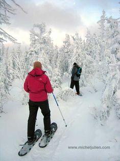 Les plus beaux sentiers de raquette du Québec Winter Activities, Outdoor Activities, Quebec Winter, Nordic Skiing, Winter Mountain, Image Fun, Canada Travel, Plein Air, Winter Sports