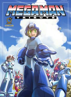(Hitoshi Ariga's cover to the Mega Man Tribute Hardcover Edition I'm currently working on. Since Ariga-san doesn't have his own DA account I'm posting this up myself.) Pre-order MEGA MAN TRIBUTE: H...