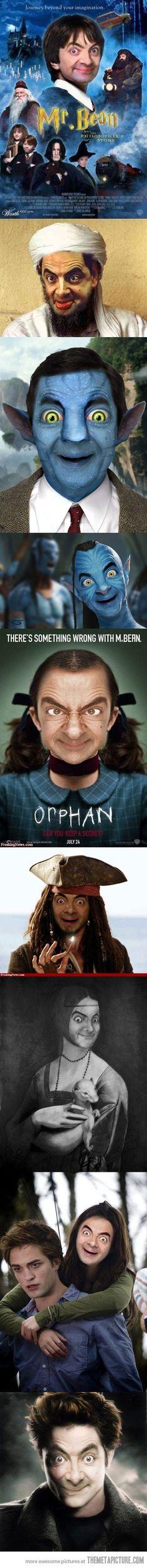 Mr. Bean strikes again!