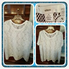 🎀 NWOT Woman's Lace Floral Tunic 🎀 Brand New Never Worn All Over Floral Lace Tunic By Ellos Brand Exclusive To Woman Within. This Is Beautiful With A Floral Lace Pattern. This Looks So Cute With A Tank Top Underneath It Great For Spring & Summer. Excellent Condition Ordered Online 🚫 TRADES 🚫 PAYPAL 🚫 NO OFFERS ACCEPTED PRICE IS FINAL MARKDOWN 🎀 Ellos Tops Tunics