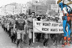 Protesta por la guerra de Vietnam – Philadelphia x Capitán América – Butcher Billy©