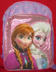 146812e427f Disney Frozen s Anna Elsa and Olaf 16in Backpack Childrens School Backpacks