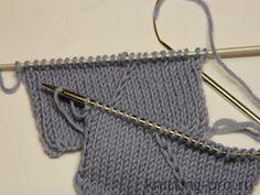 Перемещенные петли - knitting-pro.ru - От азов к мастерству