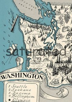 Vintage map. I like the look