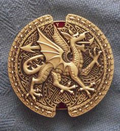 Welsh dragon spinner geocoin