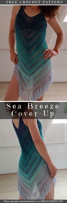 Summer Cover Up Free Crochet Patterns #crochet #pattern #cover-up #summer #freepattern