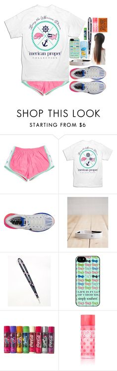 """""""Dragging through the Day (ootd)"""" by eemsles ❤ liked on Polyvore featuring mode, NIKE, lululemon, Vineyard Vines et Victoria's Secret"""