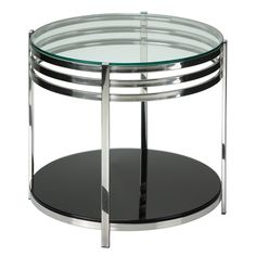 Cortesi Home Lavia Contemporary Two Tier Round End Table