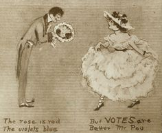 """Edward William Pou was a Democratic Representative for North Carolina described as an """"arch enemy"""" to the suffragettes, aka an """"arch douchebag"""". 14 Wonderfully Sassy Vintage Valentines From Suffragists Edwardian Era, Victorian, Arch Enemy, Vintage Valentines, Valentine Roses, Gal Pal, Old Postcards, Illustrations And Posters, Red Roses"""