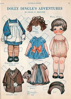 Dolly Dingle * 1500 paper dolls at International Paper Doll Society by artist…
