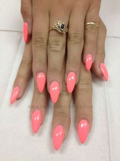 Pretty peach i normally dont like these kind of nails but these are cute.