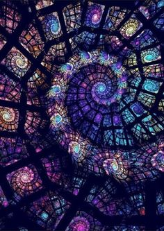 Stained spiral.  Fractal inspiration?