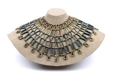 Ancient Egypt: Death and the Afterlife - Blue beaded necklace. Ancient Egyptian jewelry was often made out of beads. Blue was a commonly used color.