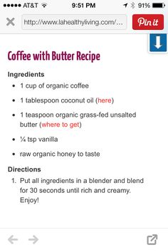 Coffee with Butter recipe
