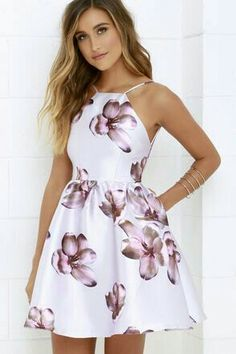 Kind of Love Navy Blue Maxi Dress Floral Borealis Lavender Floral Print Dress at !Floral Borealis Lavender Floral Print Dress at ! Cute Dresses For Teens, Casual Summer Dresses, Pretty Dresses, Summer Outfits, Elegant Dresses, Dress Casual, Casual Hair, Casual Outfits, Teens Clothes