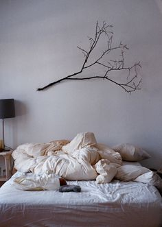 Bedroom, decor, branch