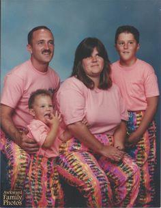 awkward family portraits, matching outfits