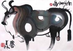 韩美林艺术大展26日开幕为国博迄今最大个展_书画频道_光明网