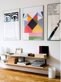 Via Michelle Sweeney | Hallway with Posters | Olle Eksell | Geometric | Colour