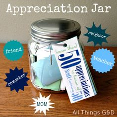 Show that special someone how much you appreciate them with this special appreciation gift by All Things G&D #allthingsgd