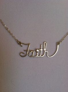 Faith Necklace with 2mm CZ - Sterling Silver by CopperfoxGemsJewelry on Etsy