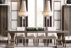 Restoration Hardware is the world's leading luxury home furnishings purveyor… Dining Room Table Chairs, Leather Dining Room Chairs, Dining Room Design, Dining Rooms, Restauration Hardware, Restoration Hardware Dining Chairs, Dining Room Inspiration, Decoration, Home Furniture