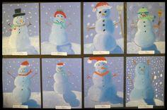 artisan des arts: Gradient blended snowmen - grade 5/6