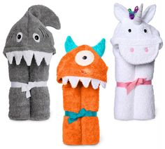 hooded animal towels for kids | Make Baths More Fun With A Hooded Towel
