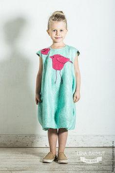 """Одежда для девочек, ручной работы. Мятное-платье баллон """"Чик-Чирик"""". Лена Баймут. Интернет-магазин Ярмарка Мастеров. Рисунок"""