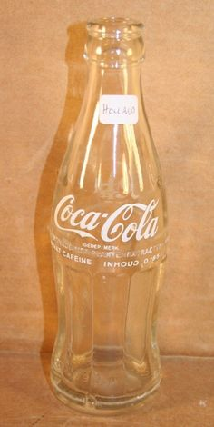Coca Cola White ACL Hobbleskirt Bottle 0 185 Liter Holland 1979 Crown Top | eBay