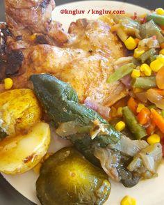 Roast chicken and veggies #chicken