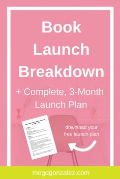 Book Launch Breakdown | Meg D. Gonzalez | What does a book launch look like? And how can you pull off a killer launch? Check out the launch week breakdown and get exclusive access to my promo plan!