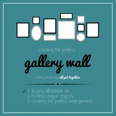 Follow this gallery wall series and create a gallery wall that fits your home.
