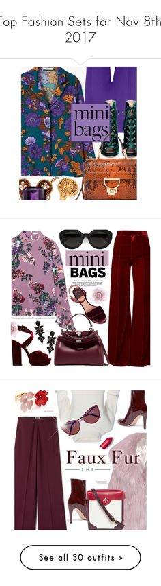 """""""Top Fashion Sets for Nov 8th, 2017"""" by polyvore ❤ liked on Polyvore featuring MANGO, Roland Mouret, Gianvito Rossi, Chloé, minibags, Erdem, Racil, Laurence Dacade, Fendi and Accessorize"""