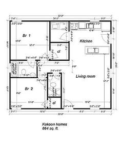 Impressive 30 X 40 House Plans 3 Small Ranch House Floor