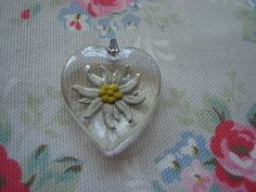 Edelweiss Pendant. Sort of hard to find edelweiss things in the states. This would be a nice gift for my grandma, as she is from Slovenia and it reminds her of home:)