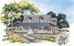 Eplans Farmhouse House Plan - Cozy Loft - 1673 Square Feet and 3 Bedrooms from Eplans - House Plan Code HWEPL00921