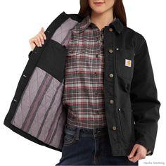 women's chore coat   Carhartt 100672 Womens Quinwood Chore Coat