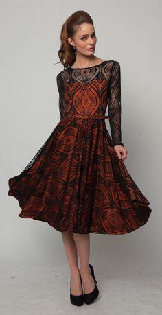 Eva Franco Adrina Dress in Saffron Tribe